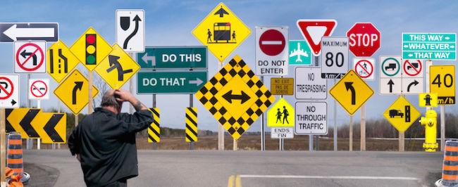 gambar Rambu lalu lintas konvensional