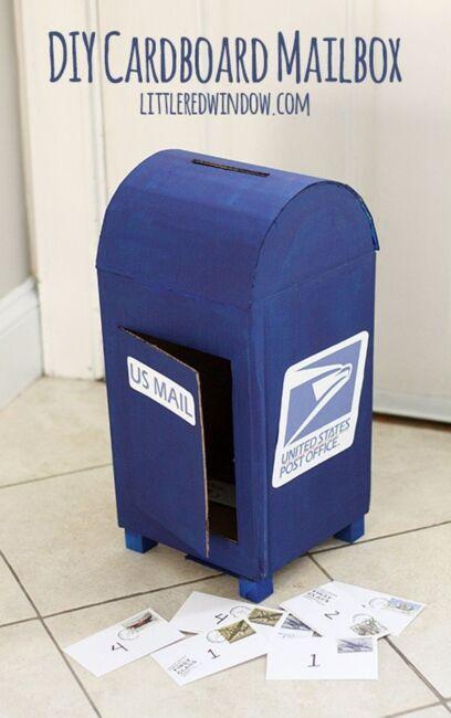 Cardboard Mailbox