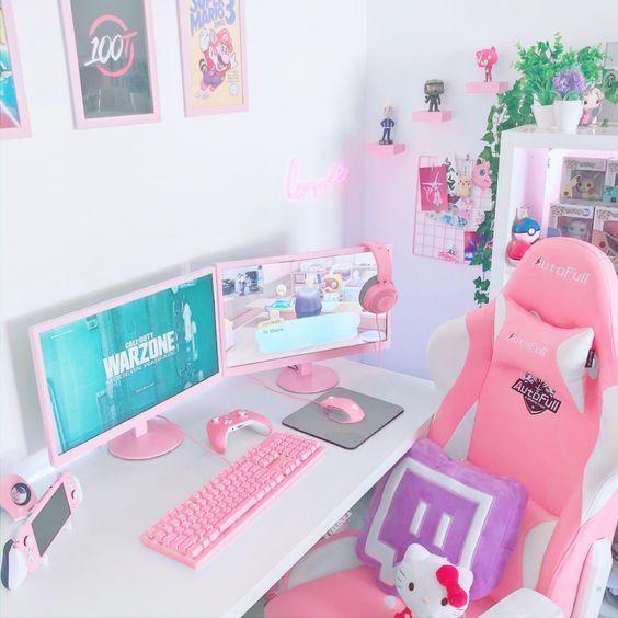 girlie girl gaming setup