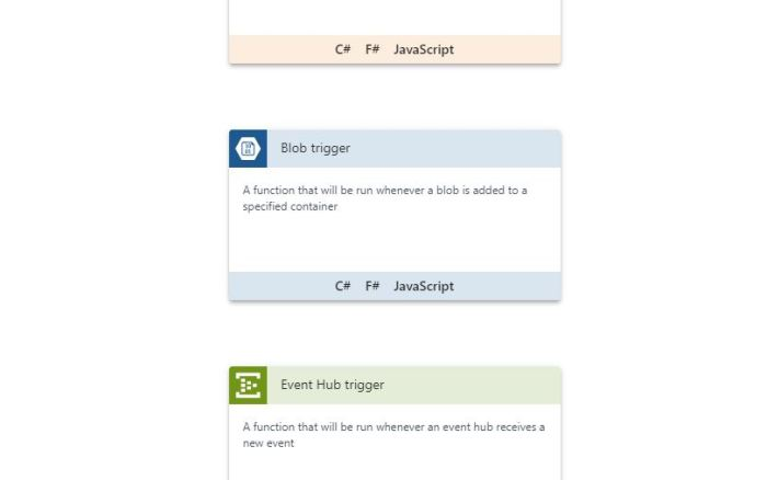 Azure Functions Tutorial Select Blob Trigger