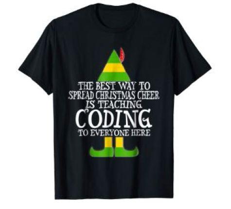 coding christmas shirt