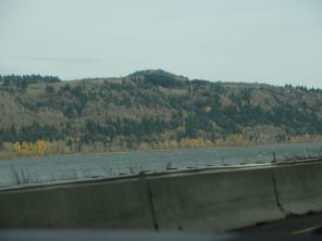 Columbia River (and a highway wall)