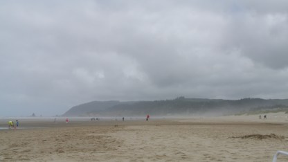 Looking north on Cannon Beach