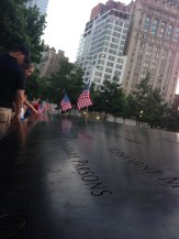 National 9/11 Memorial Reflecting Pool Inscriptions