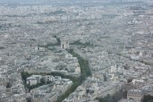 View of the Arc de Triomphe...