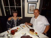 Anniversary dinner at Hall's Chophouse