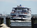 This ferry makes the half-hour trip from the mainland to Fort Sumter