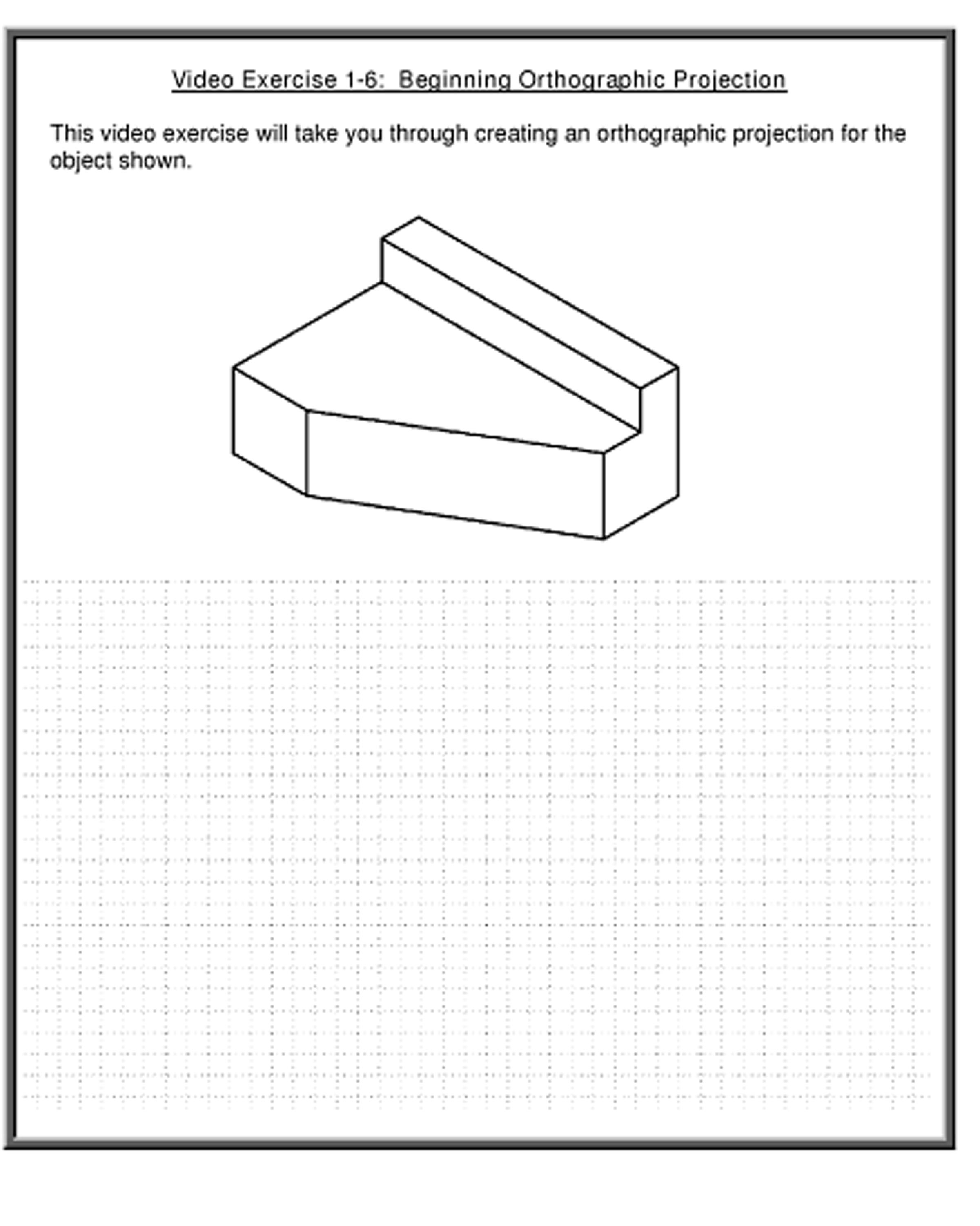 Orthographic Drawing Exercises Engineering Essentials