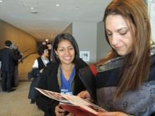 Ingrid Galvez speaks with UNFPA's Latin America rep