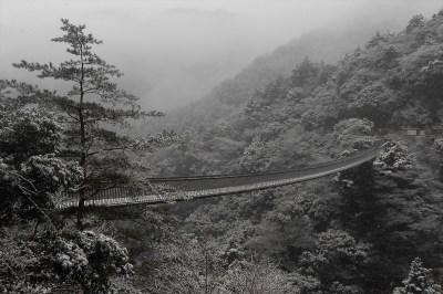 Umenoki-Todoro suspension bridge Winter view
