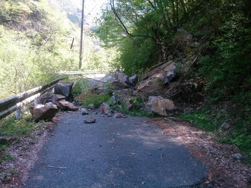 Rockfalls in Gokanosho 2