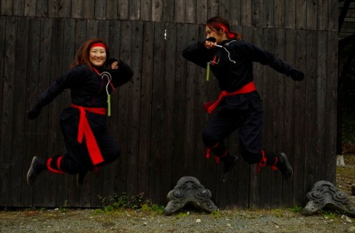 "Visitors in ""Kunoichi"" (female ninja) clothws 2"