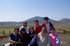 Near Mt Aso's crater