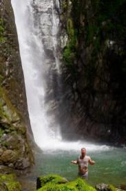 Swimming at Sendan Todoro