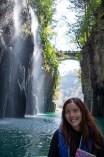 Row boat around waterfall