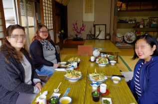 Lunch in Takachiho town