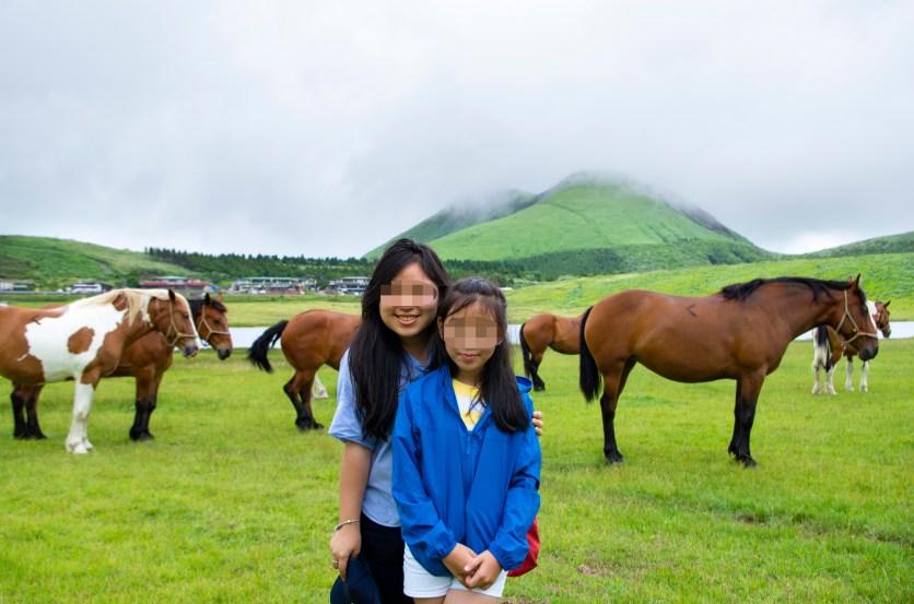 With horses at Kusasenri