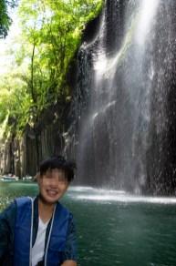 Boating around Manai waterfall