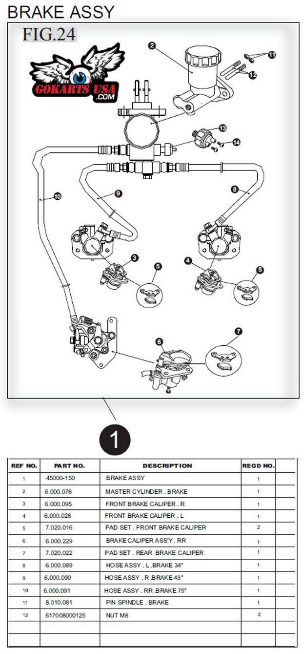 medium resolution of trailmaster 150 buggy brake assembly