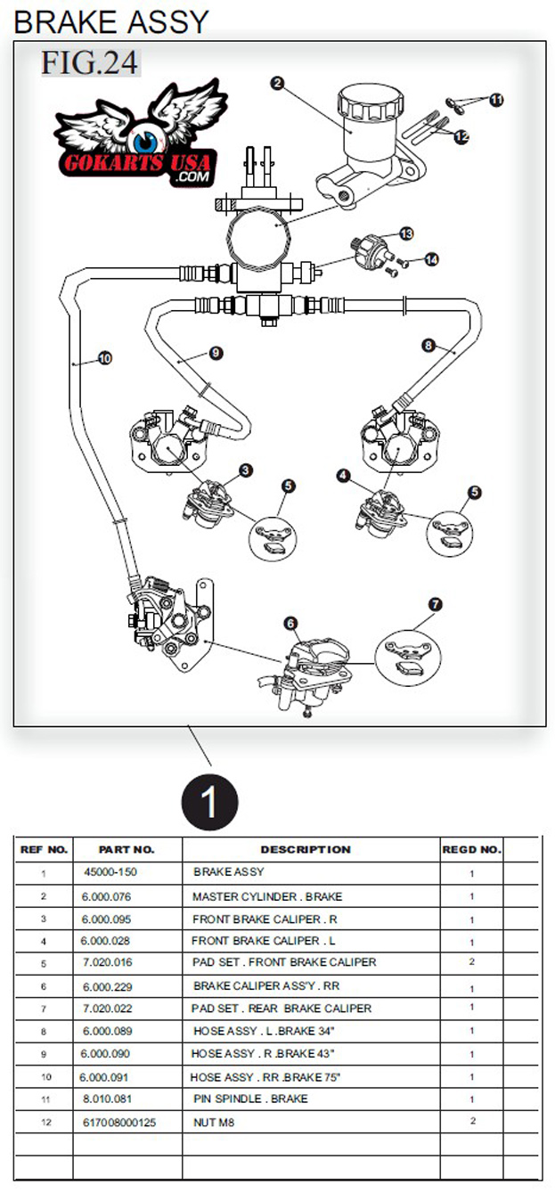 hight resolution of trailmaster 150 buggy brake assembly