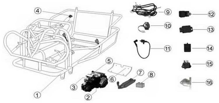 File: Kandi 250cc Wiring Harnes