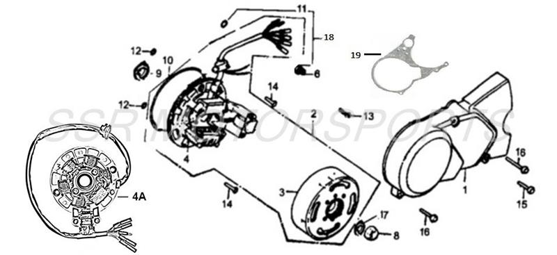 SSR oem stock Pit Bike Parts