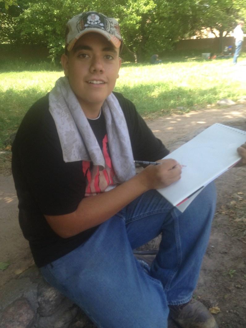 Bryan tries his hand at botanical drawing.