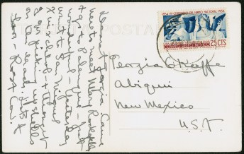 Postcard from Covarrubias to O'Keeffe