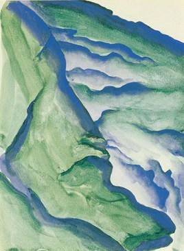 Peruvian Landscape, 1956/1957 Georgia O'Keeffe Watercolor on paper 11 ¾ x 8 ¾ (29.8 x 22.2) Georgia O'Keeffe Museum Gift of Mr. and Mrs. Eugene V. Thaw (1998.02.001) © Georgia O'Keeffe Museum