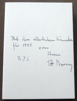 Holiday card from Tet Arnold Von Borsig, 1945.