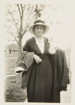 Georgia O'Keeffe in Texas, c. 1912-1918 Unidentified photographer Black and white photograph 3 ½ x 2 ½ in. 2014.03.233