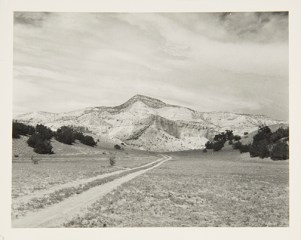 Road and Hill, New Mexico, undated Unidentified photographer Black and white photograph 4 x 5 in. 2014.03.266