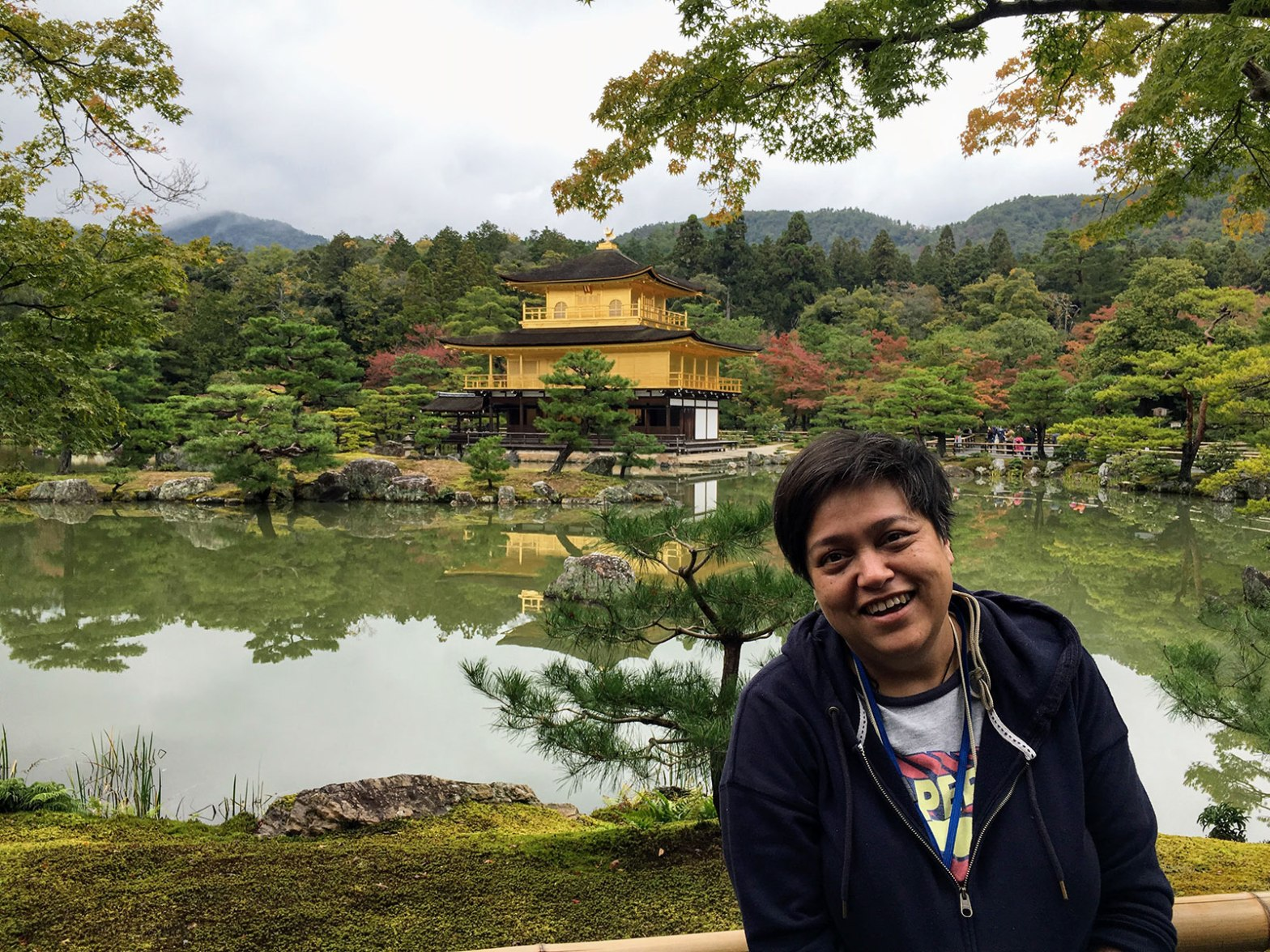 Caroline at Kinkaku-ji