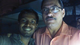 With Col Bhaya, Our train incharge.