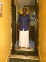 That's me in vetti sattai, traditional attire