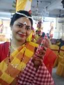 SJ in traditional Bengali bride attire
