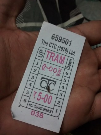 Tram ticket, just 5 Rs.