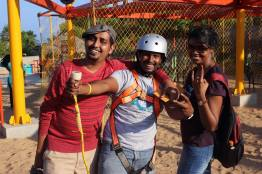 With my dear CBC Admins Brags Anna and Sindhu JP. Post successful walking on the Devil's Ramp