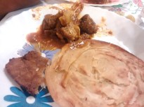 Wedding Food - Paratas and Mutton
