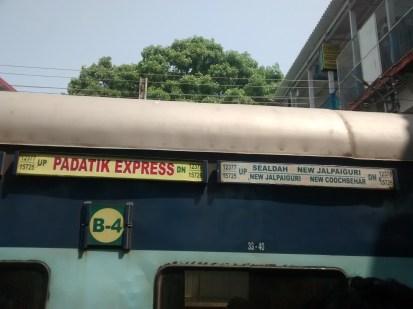 Our train - Padatik Express