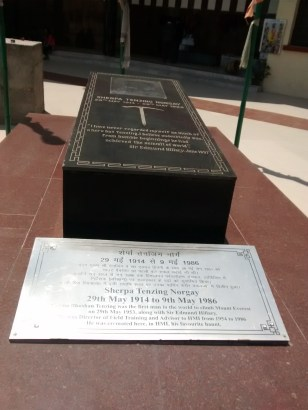 Resting place of Mr. Tenzing Norgay Sherpa
