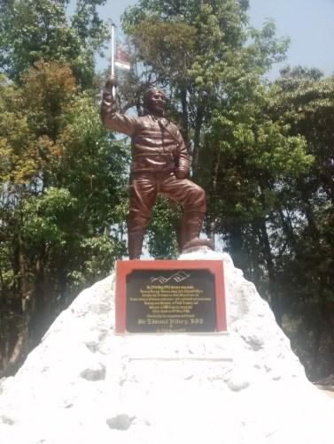 Sculpture commemorating Mr. Tenzing Norgay's Everest summit