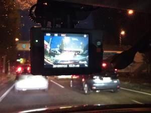 ドライブレコーダー夜の映像