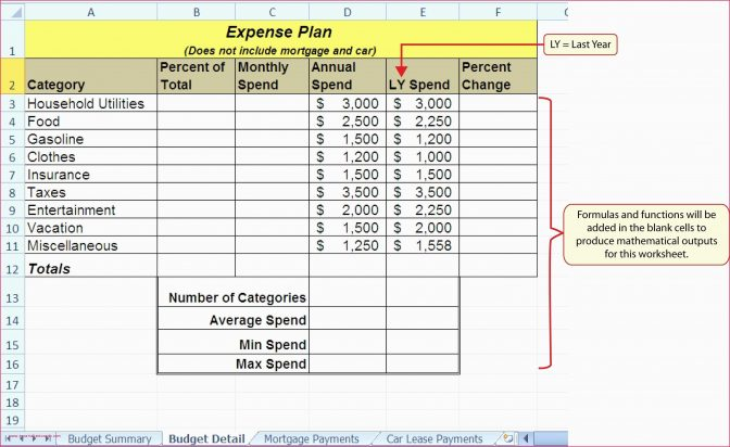 budget calculator spreadsheet and