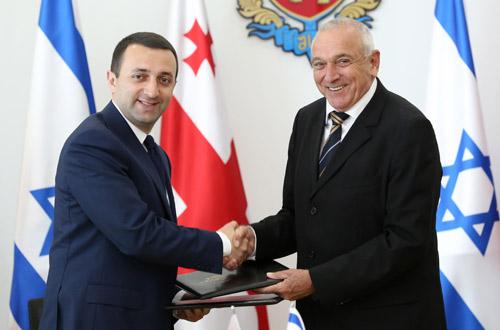 Yitzhak Aharonovitch  and Irakli Garibashvili