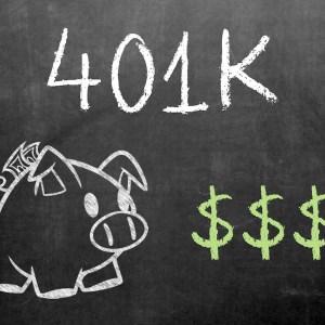 401k Chalkboard Piggybank