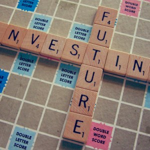 Future Investing Scrabble Board Pieces