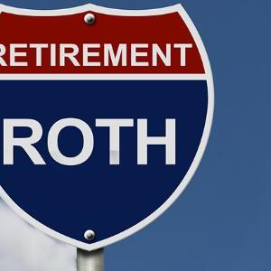 Retirement Roth Interstate Highway Sign Blue Sky