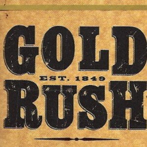 Vintage Gold Rush Poster