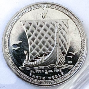 1/10 Oz Platinmünze Noble Isle of Man Münze Vorne